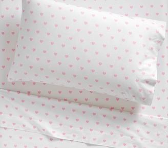 Pottery Barn Kids Organic Heart Sheet Set & Pillowcases