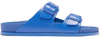 Birkenstock 1774 Arizona Leather Slides - Blue