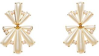 Lele Sadoughi 14K Gold-Plated & Scalloped Acrylic Pearl Chandelier Earrings