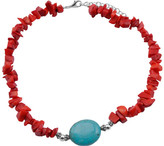Barse Women's Turquoise/Sea Bamboo Necklace TESSN24TCRL
