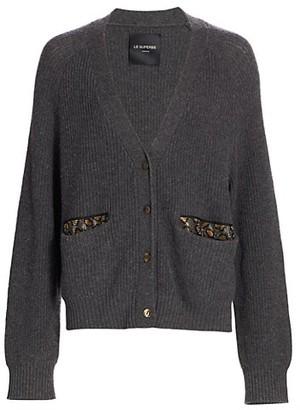 le superbe B2B Oversized Embellished-Trim Cardigan