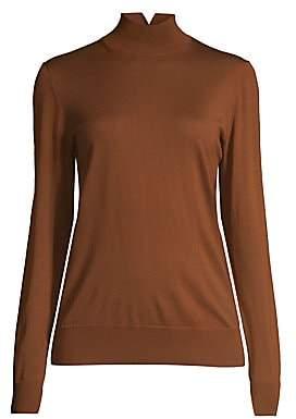 Lafayette 148 New York Women's Split Merino Wool Turtleneck Pullover