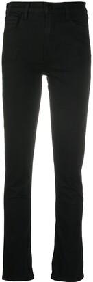 J Brand Black Straight-Leg Jeans