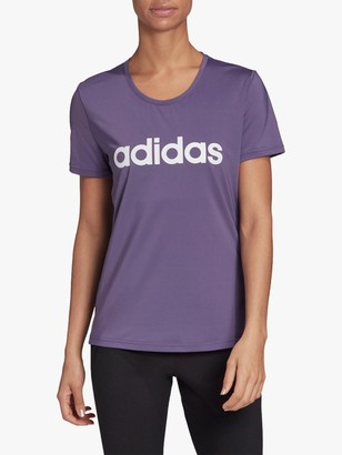 adidas Design 2 Move Logo T-Shirt, Tech Purple