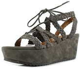 H.S. Trask Patrice Open Toe Suede Wedge Sandal.