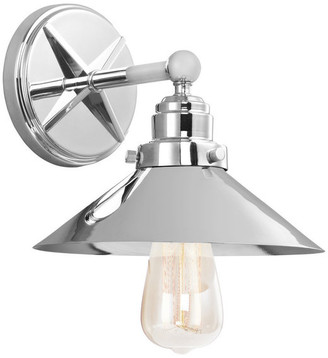 Feiss 1-Light Sconce, Chrome