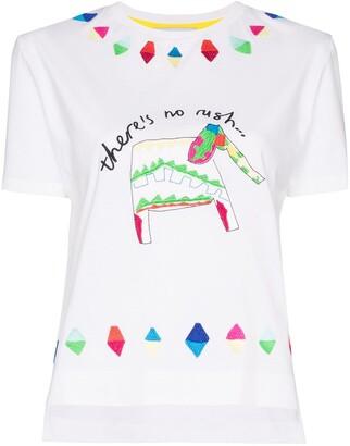Mira Mikati elephant patch T-shirt