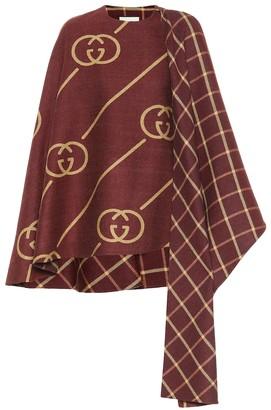 Gucci Wool and silk cape