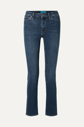 MiH Jeans Daily High-rise Straight-leg Jeans - Mid denim