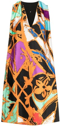 Balenciaga Pre-Owned Abstract Print Shift Dress