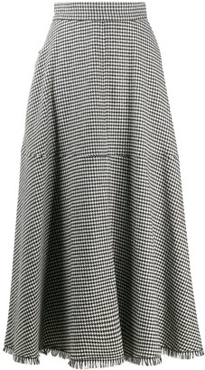 FEDERICA TOSI Herringbone Pleated Midi Skirt