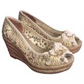 Tory Burch Beige Cloth Sandals