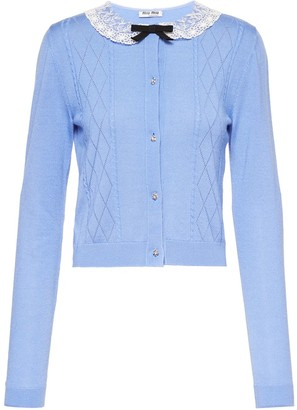 Miu Miu Lace Collar Cardigan