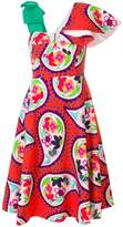 DELPOZO paisley print bodice dress