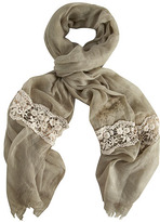 Dorothy Perkins Khaki lace panel scarf