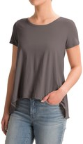 dylan Open Back Ruffle Shirt - Organic Cotton, Short Sleeve (For Women)