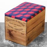 Made Anew Upcycled Geometric Wine Crate Storage Box