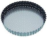 Kitchen Craft MasterClass Crusty Bake Non-Stick Loose Base Fluted Tart Tin/Quiche Pan, Grey, 23 cm