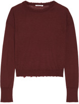 Helmut Lang Frayed Cashmere Sweater - Burgundy