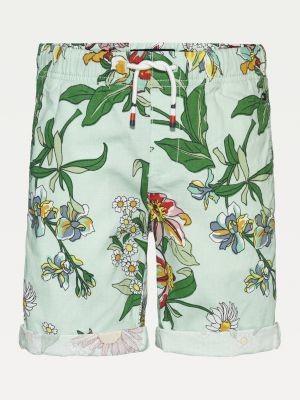 Tommy Hilfiger Floral Print Drawstring Shorts