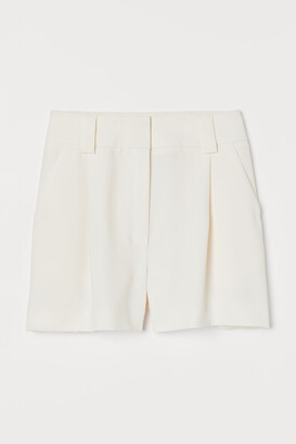H&M Tailored Shorts - White