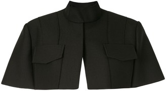 Vera Wang Cropped Knitted Cape