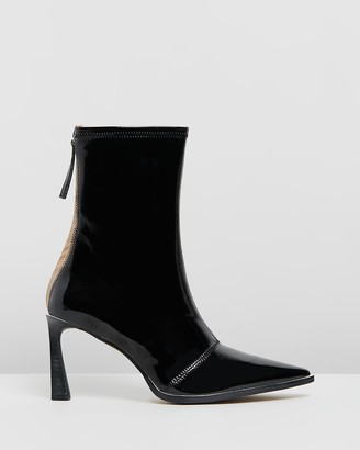 Mae Zali Leather Ankle Boots