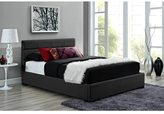 DHP Modena Black Upholstered Bed