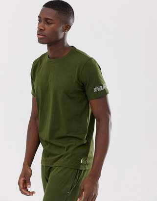Polo Ralph Lauren soft cotton crew neck t-shirt with Polo RL sleeve logo in olive-Green
