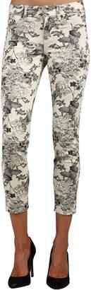 Standards & Practices Stretch Twill Floral Print Capri Crop Premium Jeans