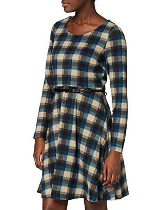 Yumi Check Skater Dress with Belt Detail