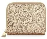 Furla Babylon Leather Zip-Around Glitter Wallet