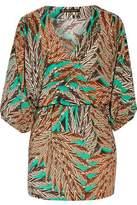Vix Lotus Embellished Printed Voile Dress