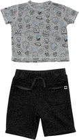Amy Coe Sketchy Skulls Graphic Tee and Shorts Set - Baby Boy 3m-24m