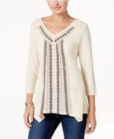 Style&Co. Style & Co Petite Embroidered Tunic, Only at Macy's