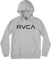 RVCA Big Pullover Hooded Sweatshirt Athletic Heather Black