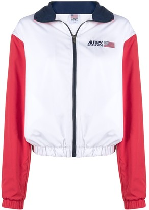AUTRY Embroidered Logo Colour Block Jacket