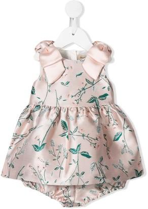 Hucklebones London Foliage Print Bodice Dress