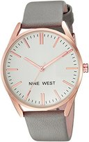 Nine West Women's Quartz Metal and Polyurethane Dress Watch, Color:Grey (Model: NW/1994RGGY)