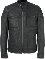 Belstaff band collar jacket - men - Cotton/Spandex/Elastane/Acetate/Cupro - 48