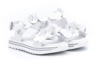 Florens Open Toe Applique Flower Sandals