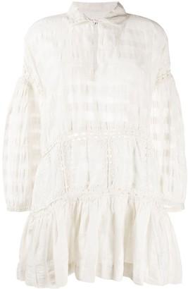 Olga crochet-trimmed dress