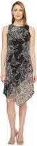 London Times Sleeveless Asymmetrical Dress