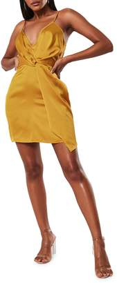 Missguided Twist-Front Sheath Dress