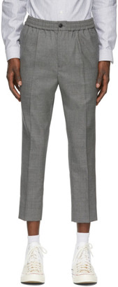 Ami Alexandre Mattiussi Grey Wool Elasticized Trousers