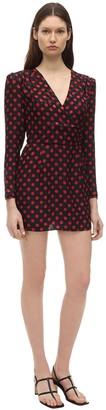 RE/DONE Jacquard Silk Mini Dress