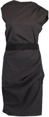 Lanvin Stretch Wool Sleeveless Side Zip Dress