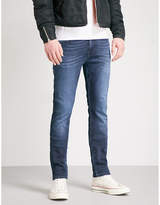 7 For All Mankind Dark Blue Vintage Ronnie Luxe Slim-fit Skinny Jeans