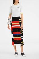 Proenza Schouler Block Knit Pencil Skirt