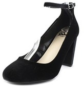 Fergalicious Daisy Women Round Toe Canvas Black Heels.